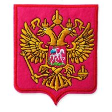 RUSSIAN SHEILD MOTIF IRON ON EMBROIDERED PATCH APPLIQUE
